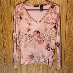 🔥Pink Floral Long Sleeve Top